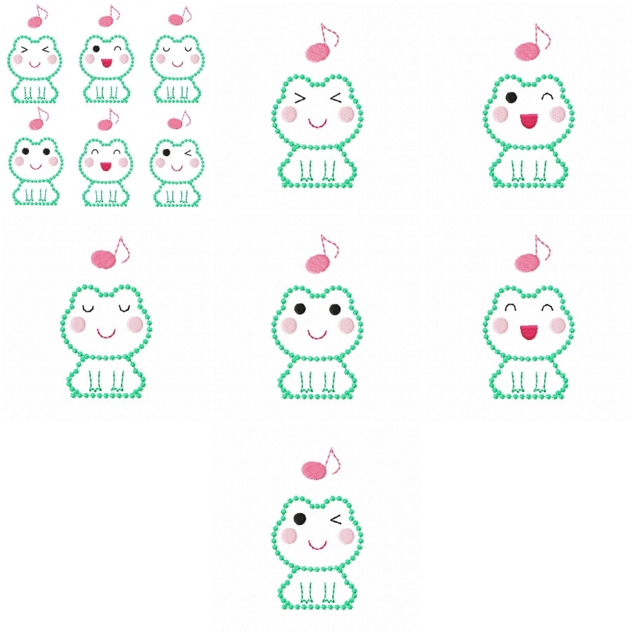 Cute Frog Expressions