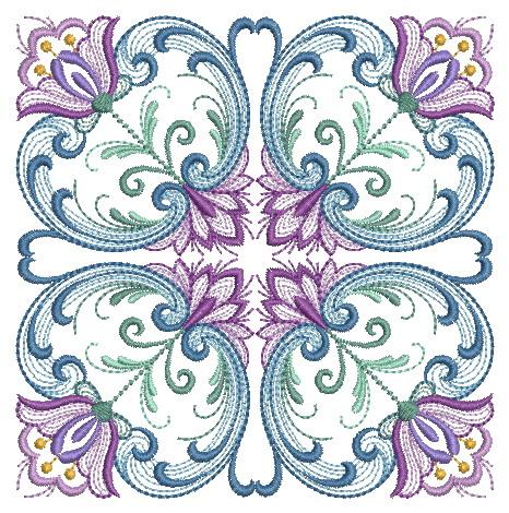 Rosemaling Quilt Blocks