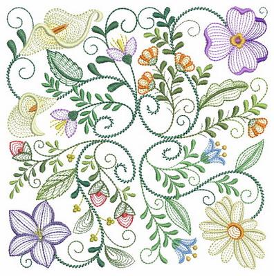 Floral Fantasy Blocks 2