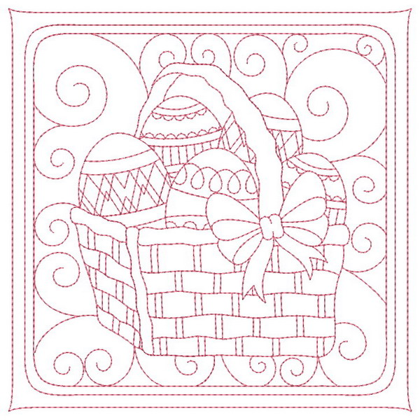 Trapunto Easter Quilt