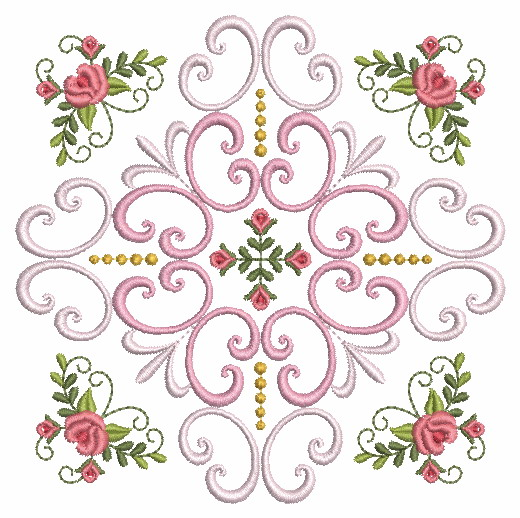 Filigree Roses Quilt 2-3