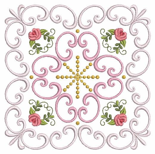 Filigree Roses Quilt 2-4