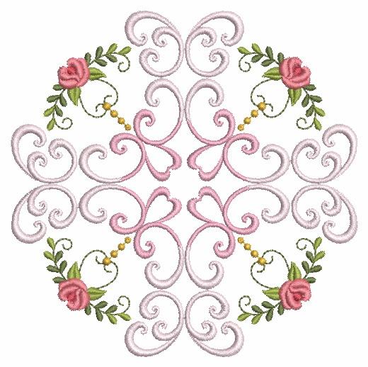 Filigree Roses Quilt 2-5