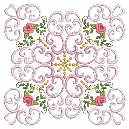 Filigree Roses Quilt 2-6