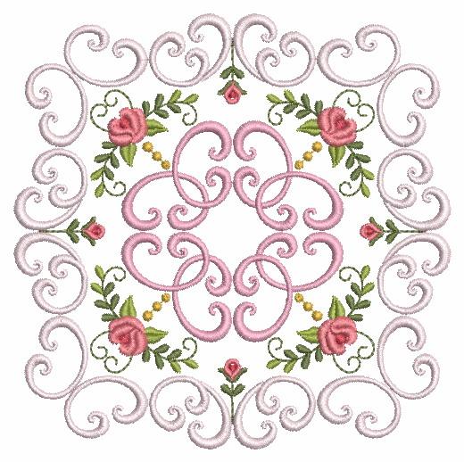 Filigree Roses Quilt 2-7