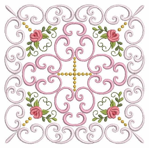 Filigree Roses Quilt 2-8