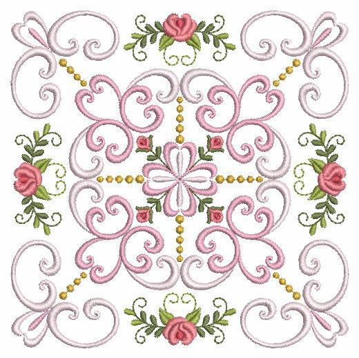 Filigree Roses Quilt 2-9