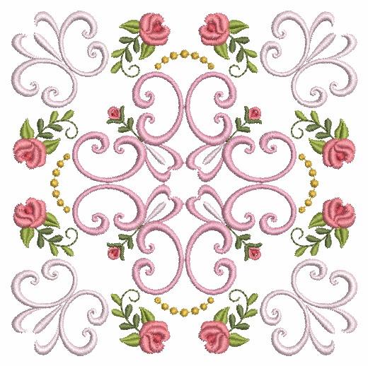 Filigree Roses Quilt 2-10