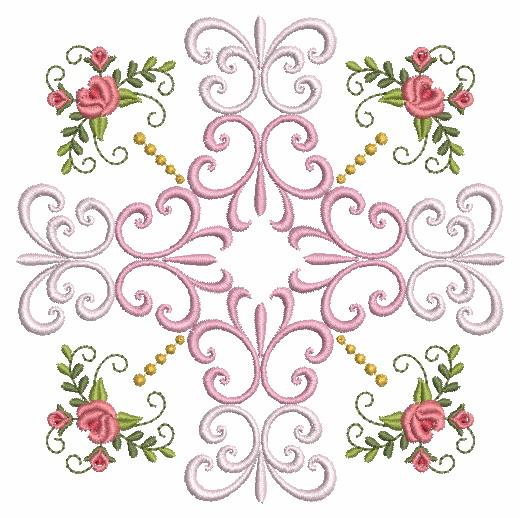 Filigree Roses Quilt 2-11