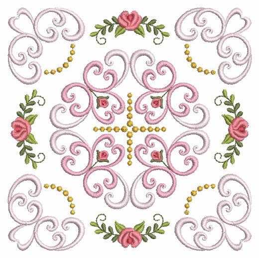 Filigree Roses Quilt 2-12