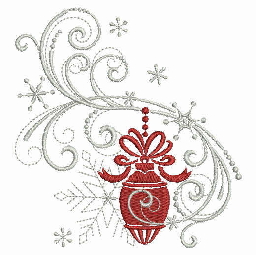 Filigree Christmas Ornaments 2-10