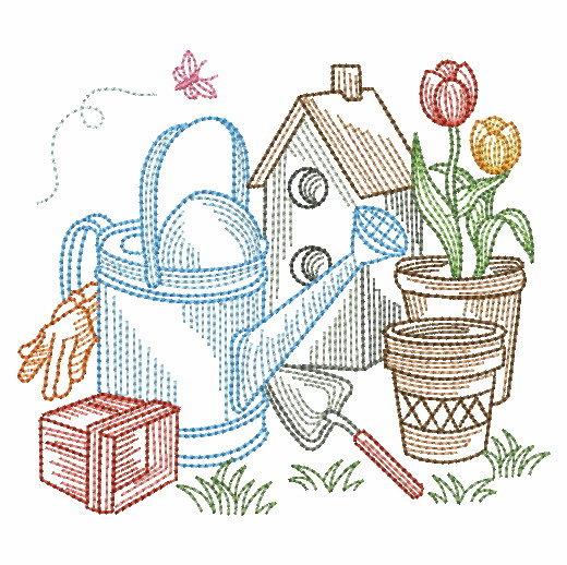Vintage Garden Time 3-7