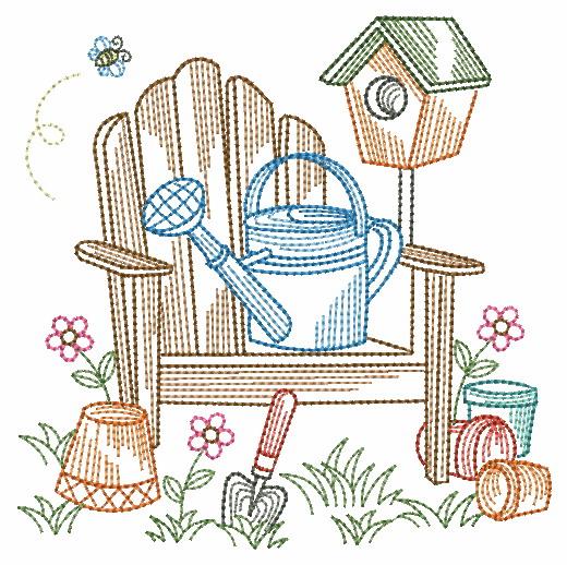 Vintage Garden Time 3-9