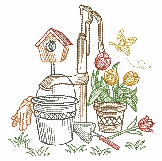 Vintage Garden Time 3-11