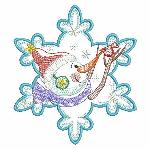 Snowflake Snowman 3-3