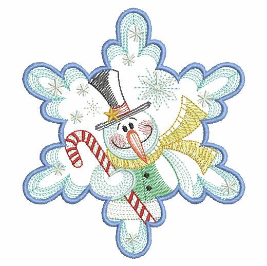 Snowflake Snowman 3-4