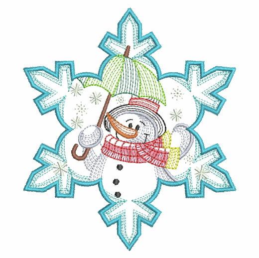 Snowflake Snowman 3-6