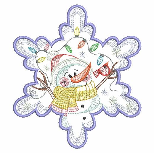 Snowflake Snowman 3-7