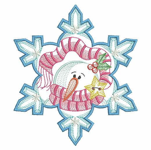 Snowflake Snowman 3-8