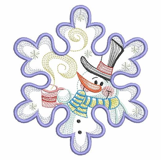 Snowflake Snowman 3-9
