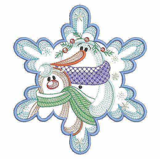 Snowflake Snowman 3-10