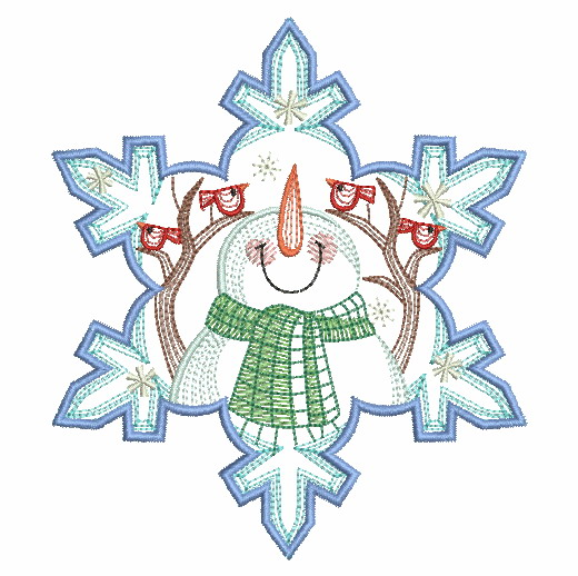 Snowflake Snowman 3-11