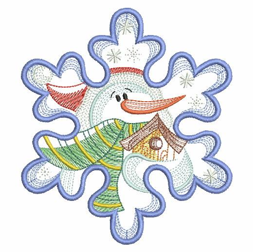 Snowflake Snowman 3-12
