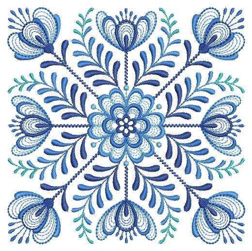 Delft Blue Quilt Block-3