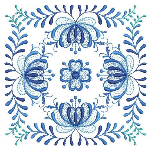 Delft Blue Quilt Block-4