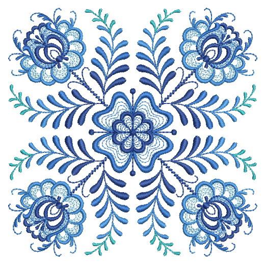 Delft Blue Quilt Block-5