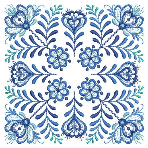 Delft Blue Quilt Block-6