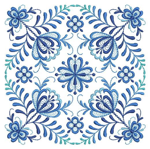 Delft Blue Quilt Block-7