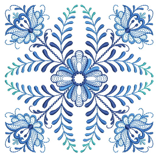 Delft Blue Quilt Block-8