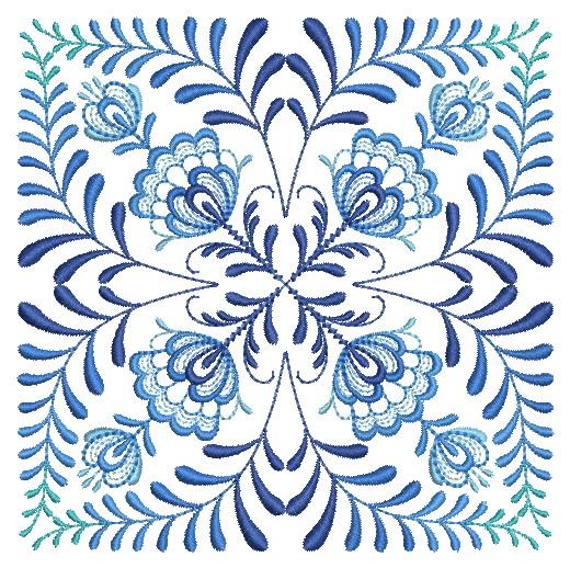 Delft Blue Quilt Block-9