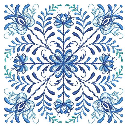 Delft Blue Quilt Block-10