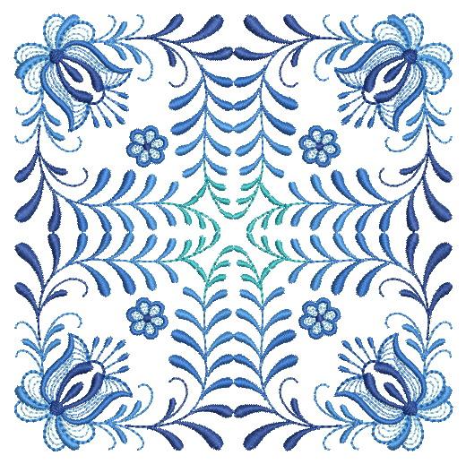Delft Blue Quilt Block-11