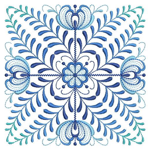 Delft Blue Quilt Block-12