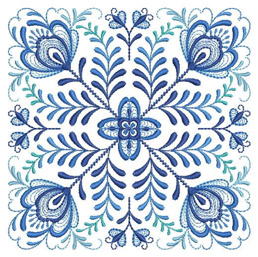Delft Blue Quilt Block-14