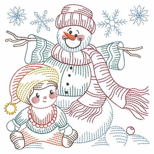 Vintage Snowman 8-3