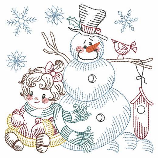 Vintage Snowman 8-4