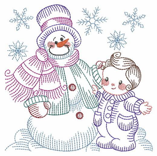 Vintage Snowman 8-5