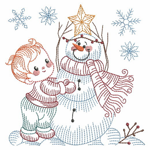 Vintage Snowman 8-6