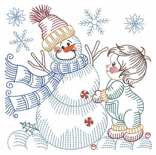 Vintage Snowman 8-7