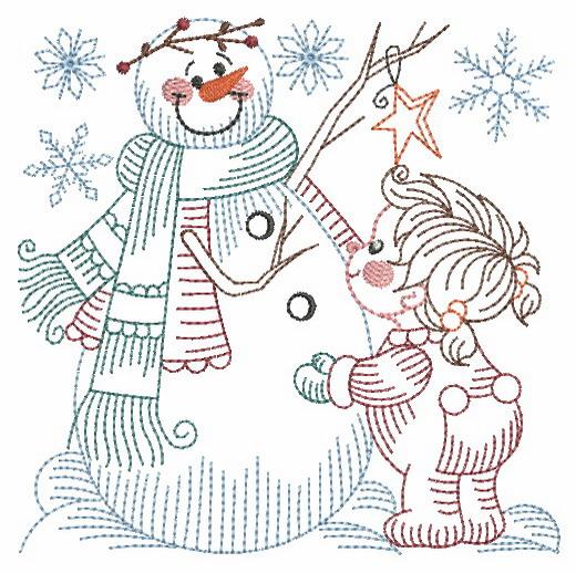 Vintage Snowman 8-8
