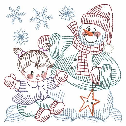 Vintage Snowman 8-9