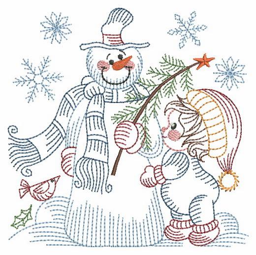 Vintage Snowman 8-10