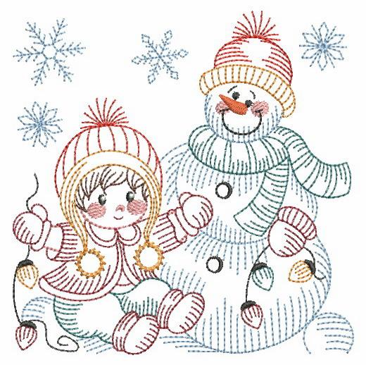 Vintage Snowman 8-11