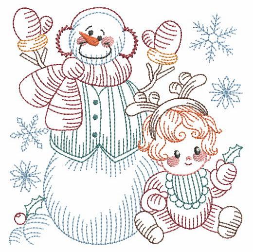 Vintage Snowman 8-12