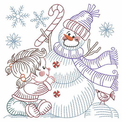Vintage Snowman 8-13
