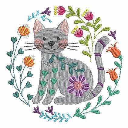 Folk Art Cats-3